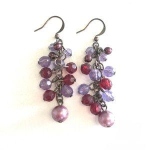 Jewelry - Jewel Toned Chandelier Earrings